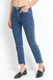 just black Front Stripe Jeans - Front full body