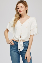 Lush Front Tie Blouse - Product Mini Image