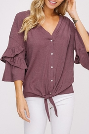Listicle Front Tie Button-Down - Product Mini Image