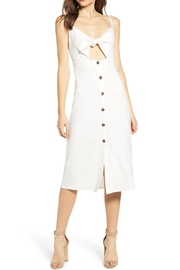 Bishop + Young Front Tie Button Dress - Front cropped