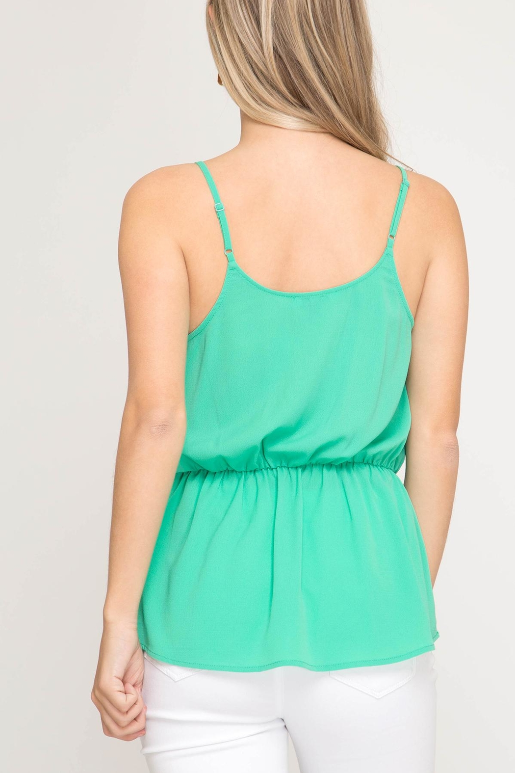 She + Sky Front Tie Cami - Side Cropped Image