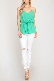 She + Sky Front Tie Cami - Front cropped
