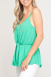 She + Sky Front Tie Cami - Front full body