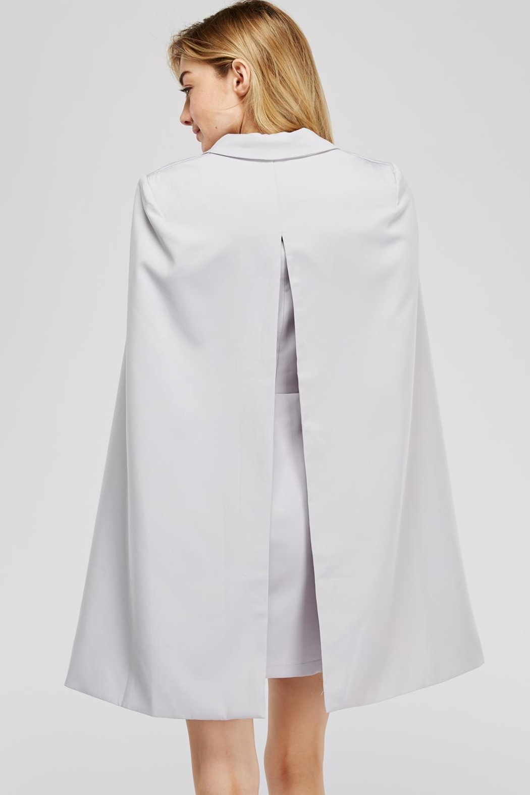 Blithe  Front-Tie Cape Dress - Side Cropped Image