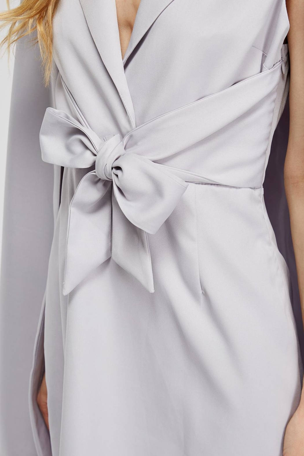 Blithe  Front-Tie Cape Dress - Back Cropped Image