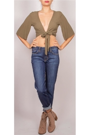 Final Touch Front-Tie Crop-Top Olive - Product Mini Image