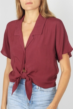 Shoptiques Product: Front-Tie Dolman-Sleeve Top