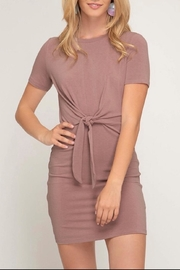 She + Sky Front Tie Dress - Product Mini Image