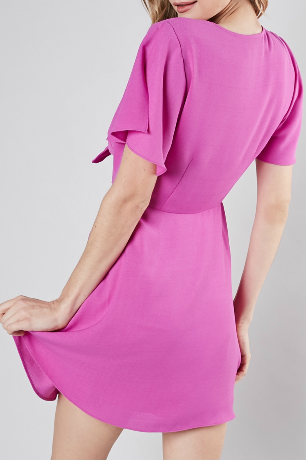 Do-Be Front tie flare dress - Front Full Image
