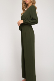 She + Sky Front Tie Jumpsuit - Side cropped