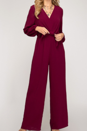 She + Sky Front Tie Jumpsuit - Product Mini Image