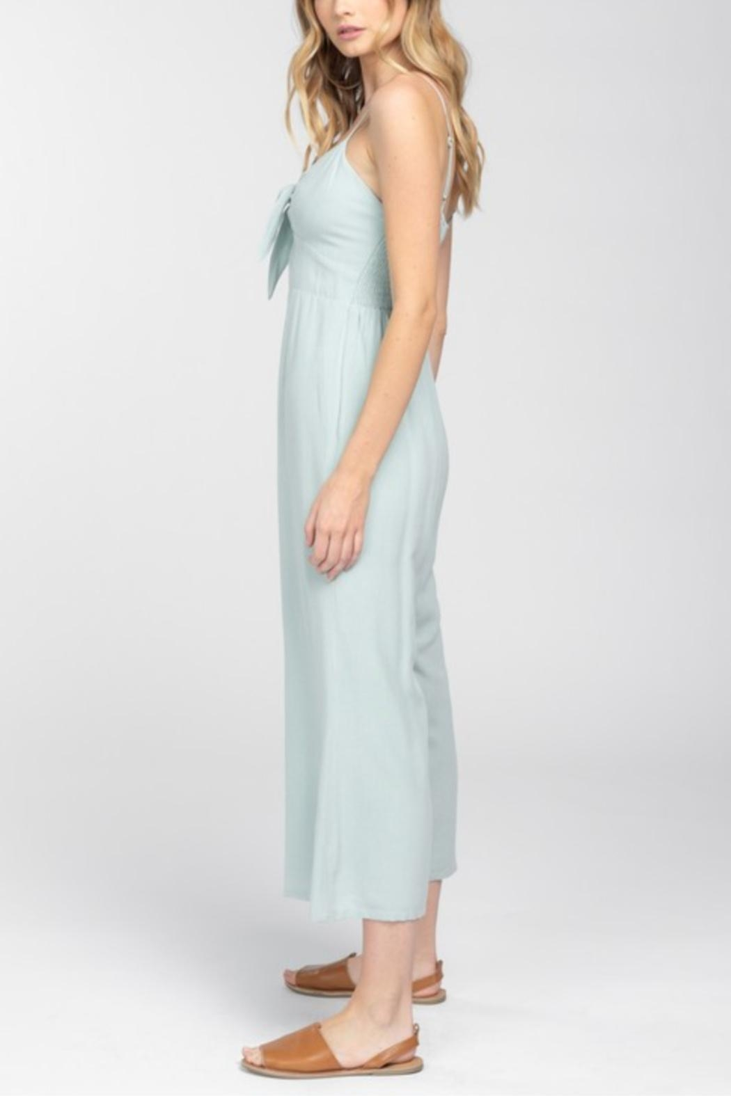 Everly Front Tie Jumpsuit - Back Cropped Image