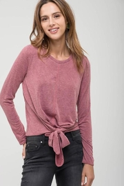 Blu Pepper Front-Tie Knit Top - Product Mini Image