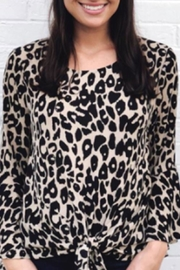 She + Sky Front-Tie Leopard Top - Product Mini Image