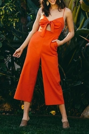 Lush Clothing  Front-Tie Linen Jumpsuit - Other