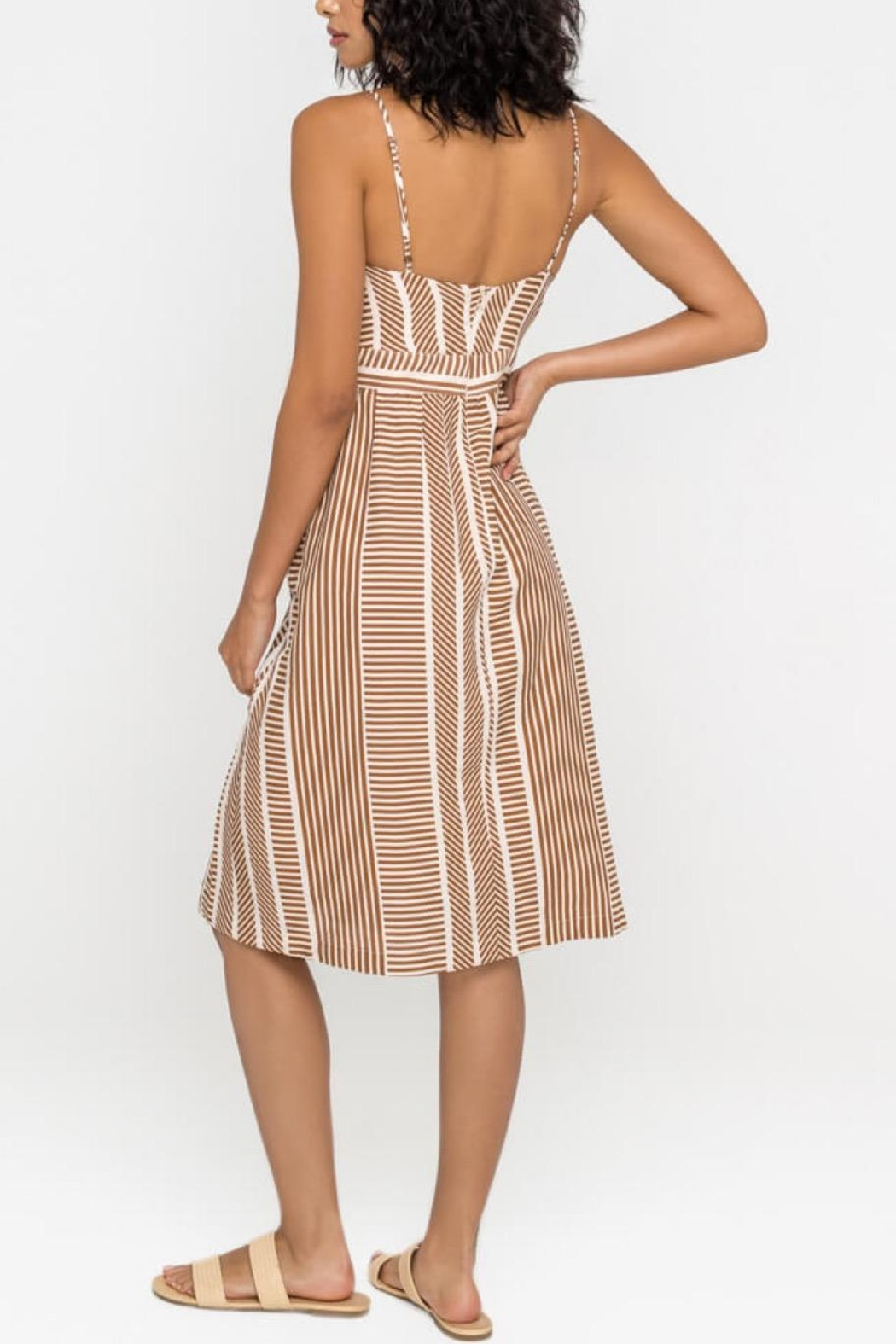 Lush Clothing  Front-Tie Midi Dress - Side Cropped Image