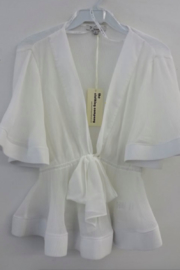 The Clothing Co Front Tie Pleat Top - Back cropped