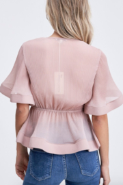 The Clothing Co Front Tie Pleat Top - Side cropped