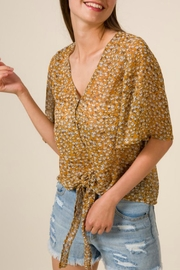 Mittoshop Front-Tie Print Blouse - Front cropped
