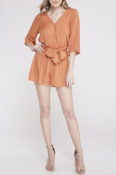 BaeVely Front Tie Romper - Product List Image