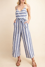 Gilli  Front Tie Stripe Jumpsuit - Front cropped