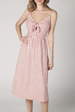 Hey  Front-Tie Striped Dress - Product List Image