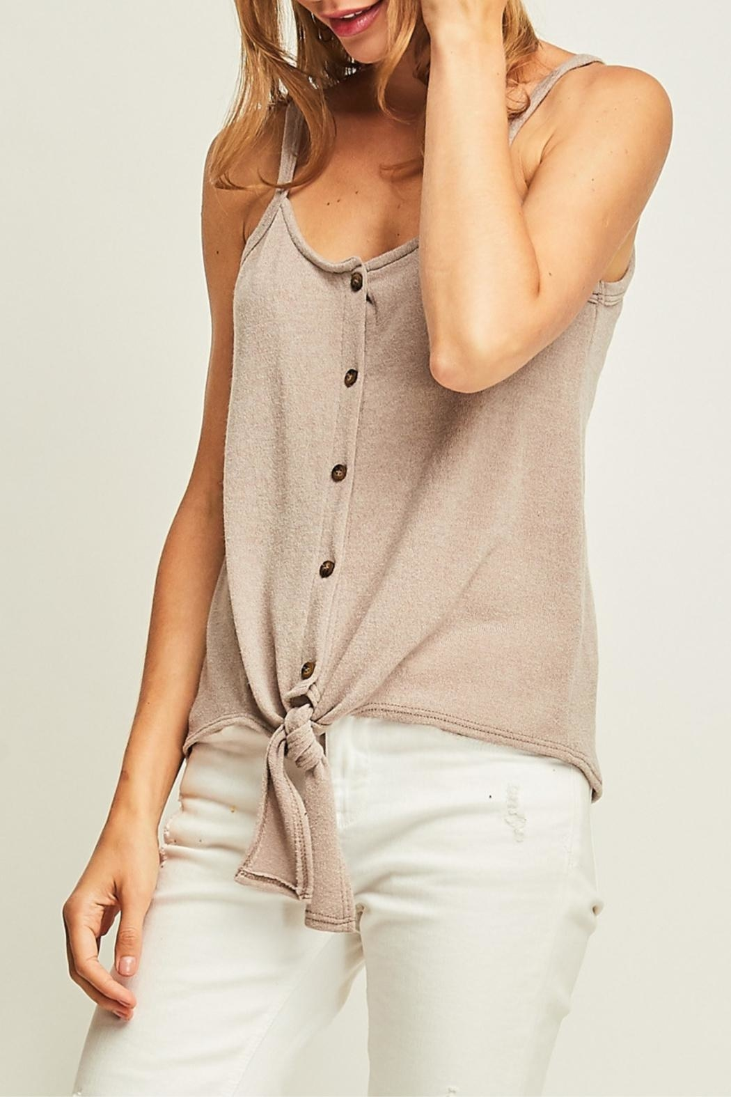 Entro Front Tie Tank - Side Cropped Image
