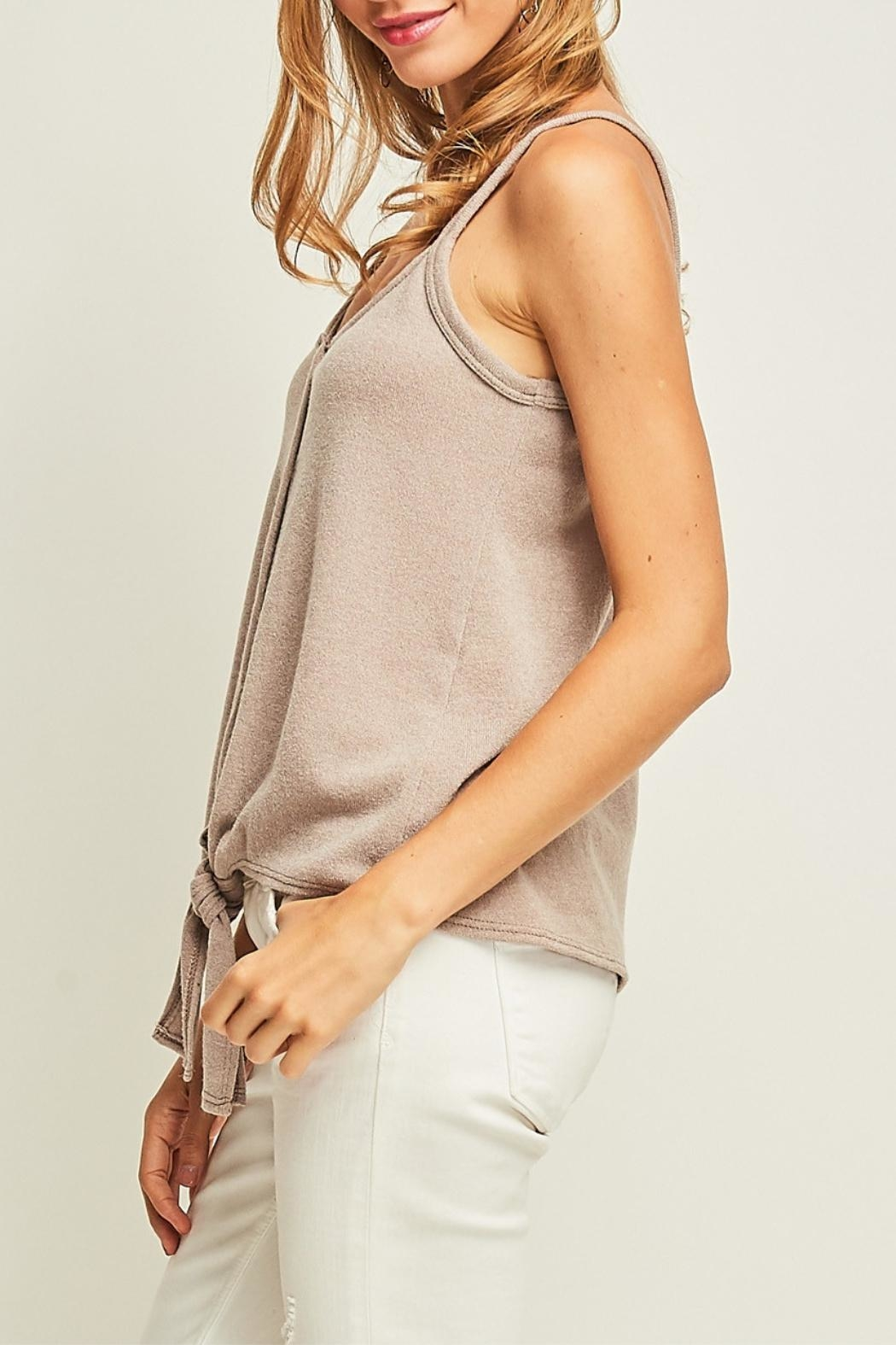 Entro Front Tie Tank - Back Cropped Image