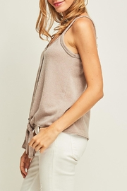 Entro Front Tie Tank - Back cropped