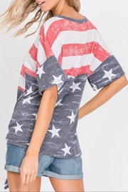 Hopely Front Tie Tee - Side cropped