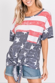 Hopely Front Tie Tee - Front cropped