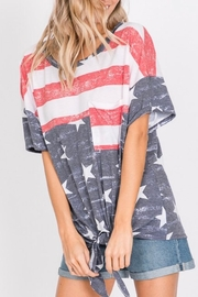 Hopely Front Tie Tee - Front full body