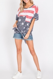 Hopely Front Tie Tee - Back cropped