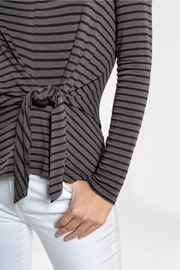 Everly Front-Tie Top, Stripe - Product Mini Image