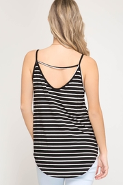 She + Sky Front Twist Cami - Front full body