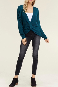 LuLu's Boutique Front Twist Sweater - Alternate List Image