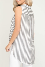 She + Sky Front Twist Top - Front full body