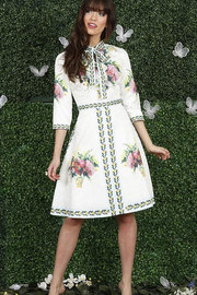 Front Row White and Floral Dress - Product Mini Image