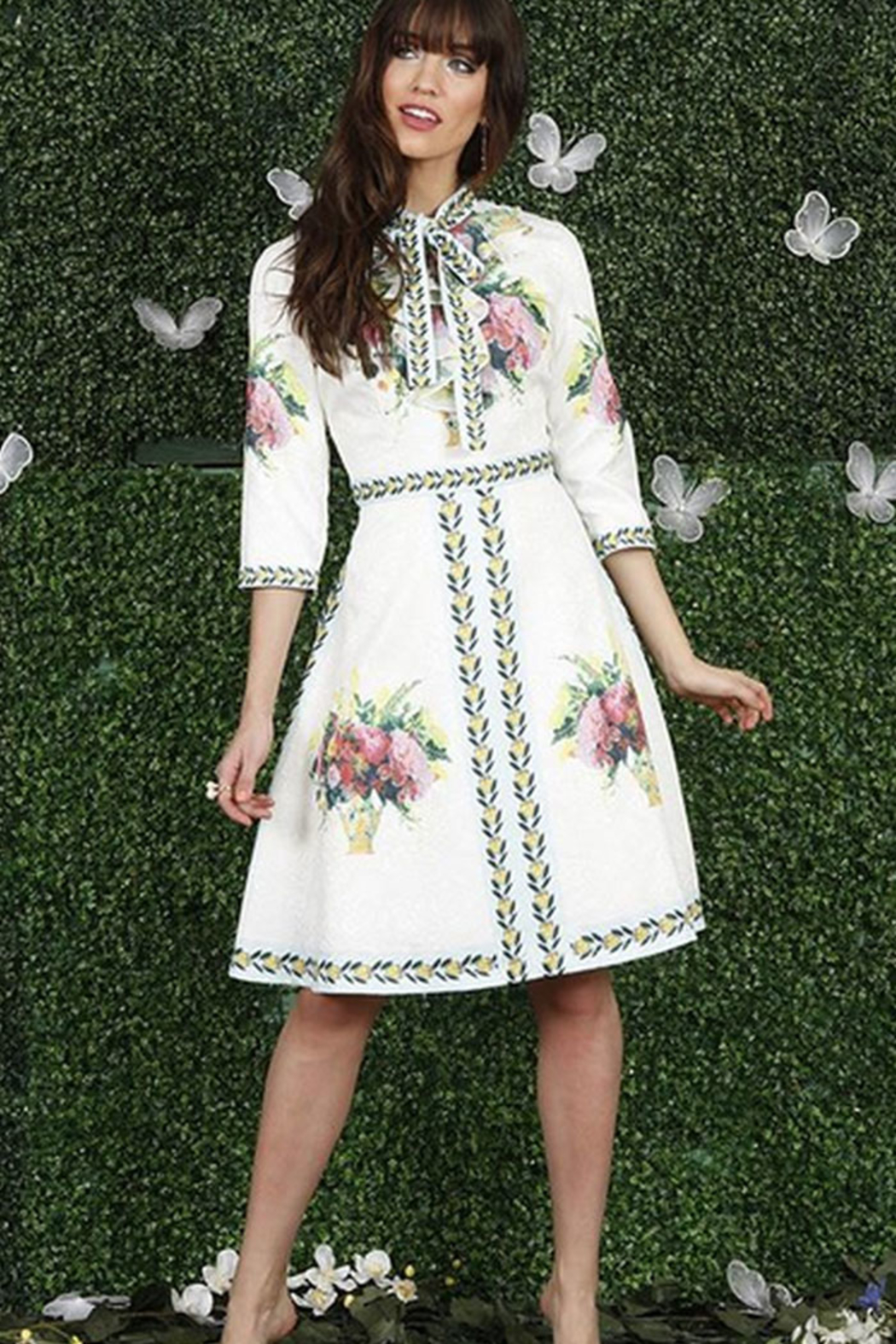 Front Row White and Floral Dress - Main Image
