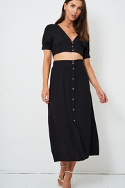 frontrow Black Cropped Top - Other
