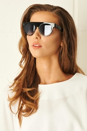 frontrow Black Flat Top Sunglasses - Product Mini Image
