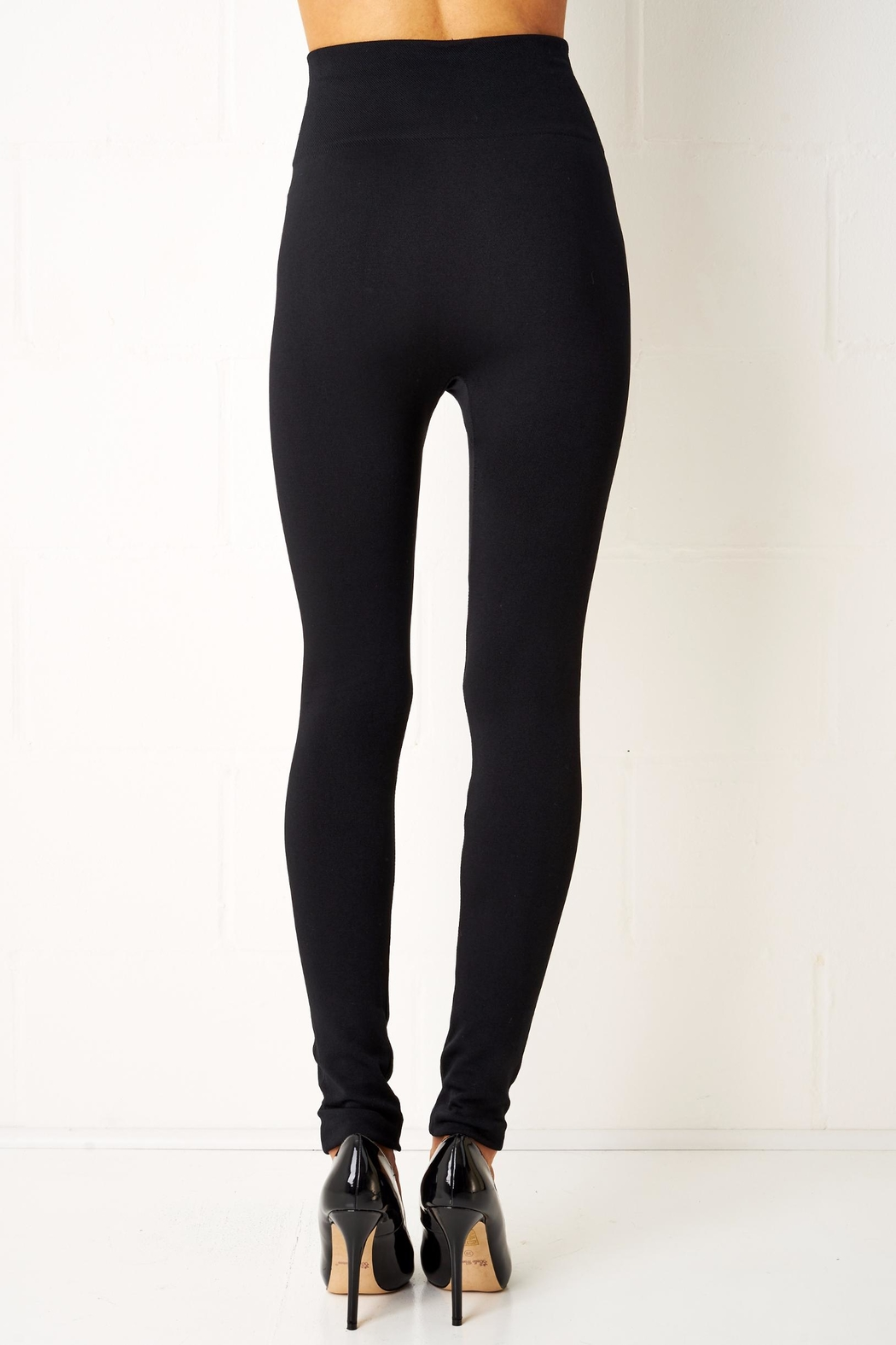 frontrow Black Gold Button Leggings - Side Cropped Image