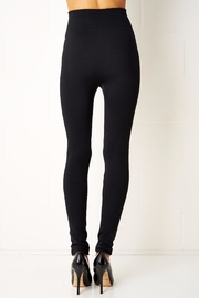 frontrow Black Gold Button Leggings - Side cropped