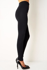 frontrow Black Gold Button Leggings - Front full body