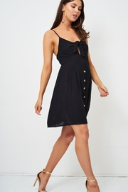 frontrow Black Knot-Detail Dress - Back cropped