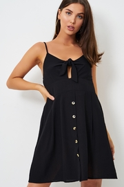 frontrow Black Knot-Detail Dress - Side cropped