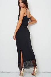frontrow Black Lace Slip Dress - Back cropped