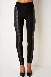 frontrow Black Leather Detail Leggings - Product Mini Image