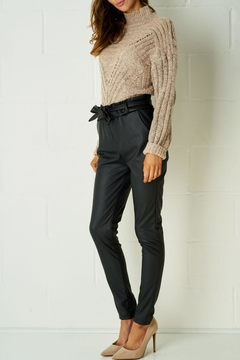frontrow Black Leather Trousers - Alternate List Image