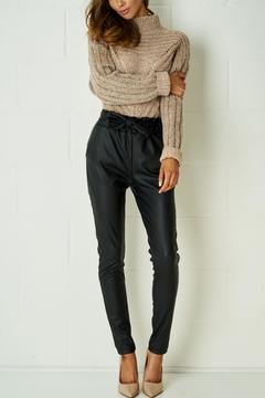 frontrow Black Leather Trousers - Product List Image